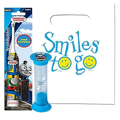 Thomas & Friends 2pc Bright Smile Oral Hygiene Bundle! Thomas Turbo Powered Spin Toothbrush & Brushing Timer! Plus Dental Gift & Remember to Brush Visual Aid!