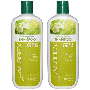 Aubrey Organics GPB Balancing Protein Shampoo Normal with Rosemary Peppermint, 11 fl oz (325 ml) (Pack of 2)