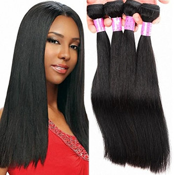 Straight Human Hair Brazilian Bundles 3 Virgin Unprocessed Remy Weave Extensions Double Weft Cheap Natural Color 14 16 18 Inch