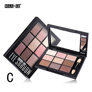 Best Pro 9 Colors Highly Pigmented Shimmer Matte Glitter Make-up Powder Eye Shadow Natural Durable Palette + Brush Set Cosmetic Eye Shadows