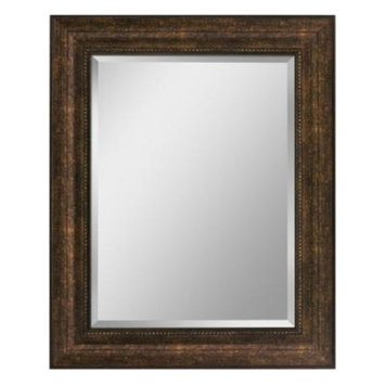 Head West 28-1/2 in. x 34-1/2 in. Framed Vanity Mirror in Copper and Bronze
