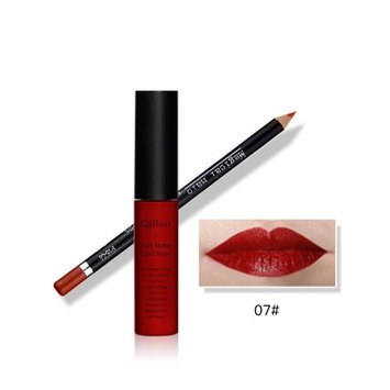 Lipstick Set,Putars Fashion Sexy Waterproof Pencil Long Lasting Lipliner With Lipstick Perfect Combination