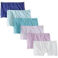Fruit of the Loom Women's 6 Pack Comfort Covered Waistband Boyshort Panties []