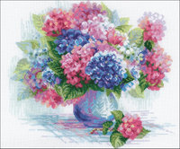 Riolis Hydrangea Cross Stitch Kit