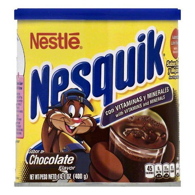 Nesquik Chocolate Flavor Powder Drink Mix, 14.1 OZ (Pack of 12)
