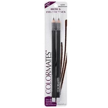 Merchandise 8648220 Colormates Eye Brow Powder Black & Grey