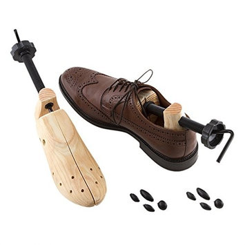 Plixio Pair of Wooden Two-Way Adjustable Shoe Stretchers, Professional Shoe Expander for Men and Women's Dress & Casual Shoes