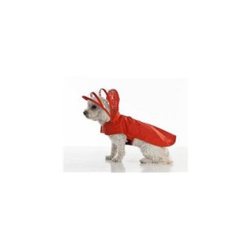 Push Pushi DRC-TC-RE Rainbow Collection Dog Raincoat Tea Cup Red