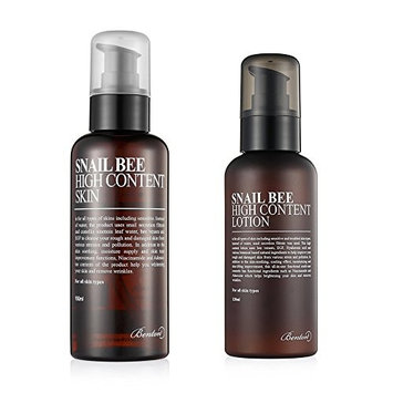 Benton Snail Bee High Content Skin and Lotion Combo with Ponytail Elastics