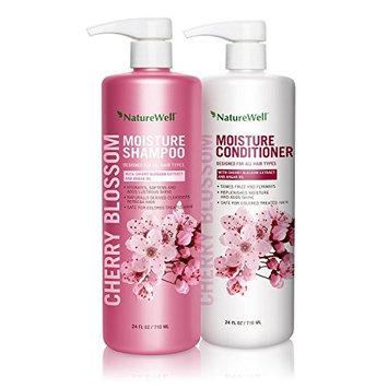 Nature Well Cherry Blossom Moisture Shampoo & Conditioner (24 fl. oz, 2 pk.) (pack of 6)
