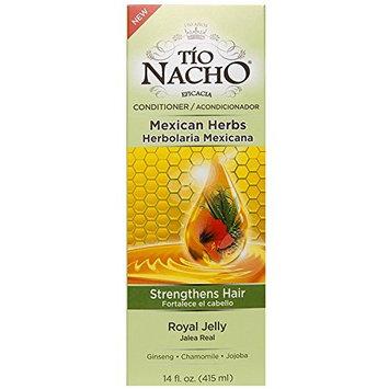 Tio Nacho Mexican Herb Hair Strengthening Conditioner with Royal Jelly, Ginseng, Aloe Vera, Wheat, Jojoba, 14 oz.