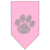 Mirage Pet Products 6757 SMLPK Paw Green Rhinestone Bandana Light Pink Small