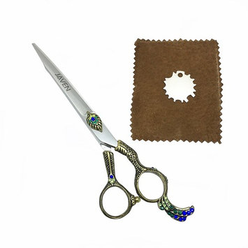 Professional Hair Shave Scissors Set peacock handle style 7 Inch Hair Cutting Styling Tool Hair Scissors Stainless Steel Salon Hairdressing Shears Regular Flat Teeth Blades