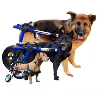 Walkin' Wheels Dog Wheelchair - for Large Dogs 70-180 lbs - Veterinarian Approved - Wheelchair for Back Legs []