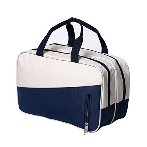 K.T. Fancy Waterproof Wet Dry Separation Sports Fitness Bag multi-functional Oxford cloth storage Travel Cosmetic Organizer