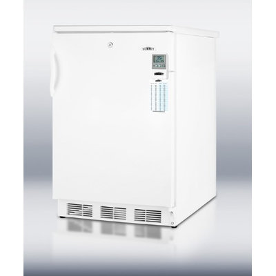 SUMMIT Auto defrost all-refrigerator for built-in use with lock, temperature alarm, internal fan, and hospital grade cord