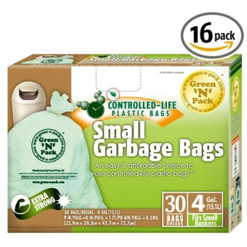 Green N Pack Small Garbage Bags 4 Gallon 30-count Boxes [30-Count (Pack of 4)]