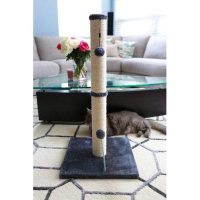 One Source International, Llc 36 inch Sisal Scratching Post (Grey Fur 16x16 Base)