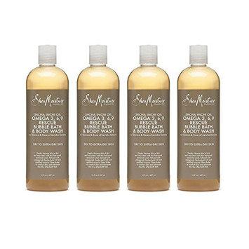 Shea Moisture Sacha Inchi Oil Omega-3-6-9 Rescue Bubble Bath & Body Wash for Unisex, 16 Ounce