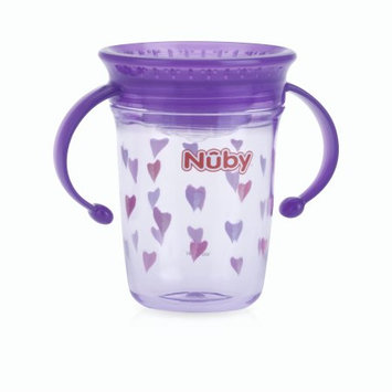 Luv N' Care, Ltd. Nuby Tritan 8oz Two Handle Wonder Cup with Hygienic Cover, Hearts