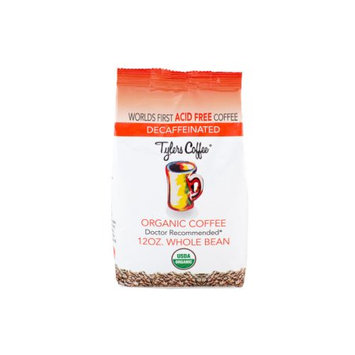 Tylers Acid Free Coffee 12oz Decaf Whole Bean Bag Acid Free Coffee