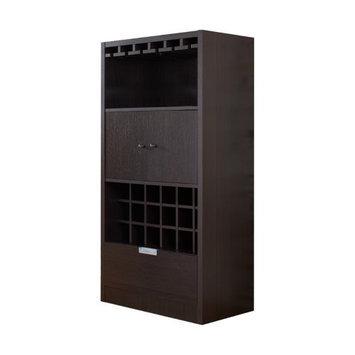 Furniture of America Dinette Contemporary Espresso Wine Cabinet