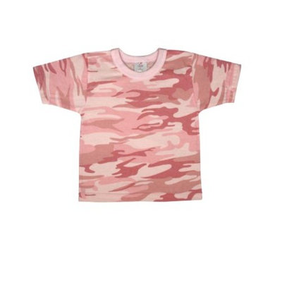 Baby Pink Camo, Girl Cotton T-shirt Infant-Toddler