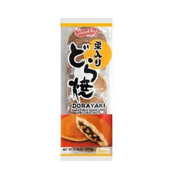 SHIRAKIKU Dorayaki Baked Red Bean Cake With Chestnuts 5pc