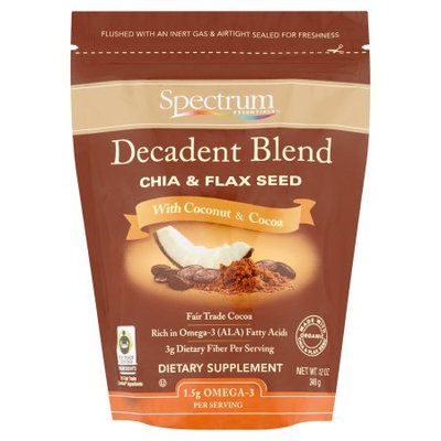 The Hain Celestial Group Inc. Spectrum Essentials Decadent Blend Chia & Flax Seed, 12 oz