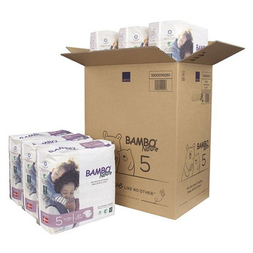Bambo Nature Eco Friendly Premium Baby Diapers for Sensitive Skin, Size 5 (24-55 lbs), 162 Count (6 Packs of 27)