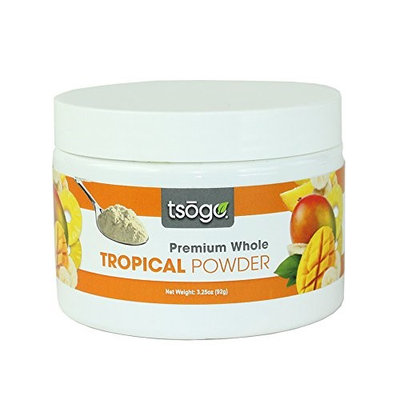 Tsogo Tropical Fruits Powder Blend Premium Whole Fruit Powder, 92g 48 Servings of Premium Quality 100% Freeze-Dried Pineapple, Mango & Banana - No Added Flavors, Fillers or Sugars