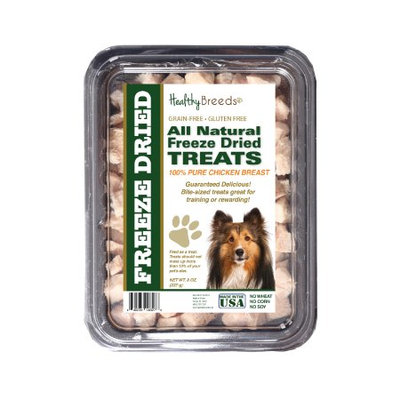 Healthy Breeds 840235146278 8 oz Shetland Sheepdog All Natural Freeze Dried Treats Chicken Breast
