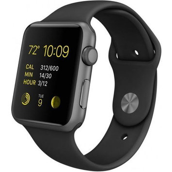 Refurbished Apple Watch Series 2 Space Gray Case - Black Sport Band 38mm