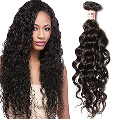 Beauty Forever Hair Brazilian Natural Water Wave Virgin Hair Weave 3 Bundles 100% Unprocessed Human Hair Extensions Natural Color 95-100g/pc