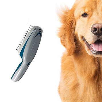 Medex Grooming Pet Ionic Brush - Grooming Comb Natural Deodorizer and Cleaner - Cleans with Ions - Natural and Effective - Works on Dogs Cats Horses