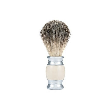 GUDUO Brush Badger Shaving Brush Pure Badger 100%,Razor Hair Brush(Steel Edge)
