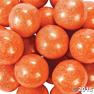 Orientaltrading Large Shimmer Orange Gumballs 2 lb