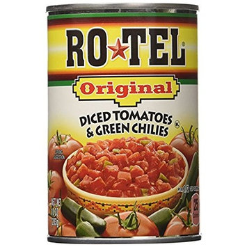 Ro-Tel Diced Tomatoes & Green Chilies, 10 Oz (pack of 2)