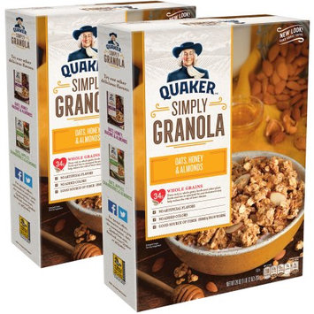 Quaker Foods And Distribution Inc. Quaker Simply Granola Oats, Honey & Almonds Twin Pack