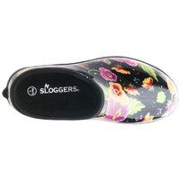 Sloggers Women's Rain & Garden Shoes - Black Pansy Print
