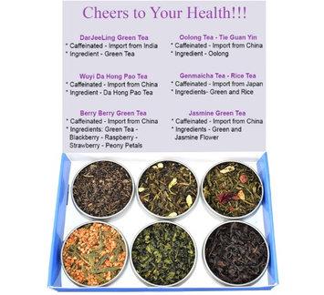Chinese Tea Culture Tea Sampler - Green Tea - Caffeinated - Gift Box - Oolong - Jasmine Tea - Berry Tea - Genmaicha Tea - DaJeeLing Tea - Tea - Loose Tea - Loose Leaf Tea
