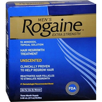 Rogaine Men's Extra Strength Unscented 6 oz (Pack of 10)
