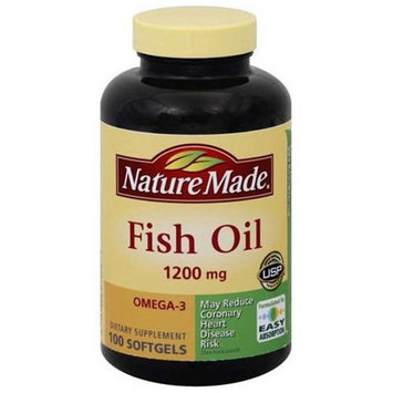 Nature Made Maximum Strength Fish Oil, 1200mg, 100ct, 3pk