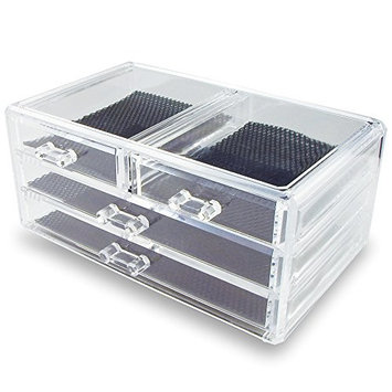 Ikee Design Acrylic Jewelry & Cosmetic Storage Display Box 9 3/8