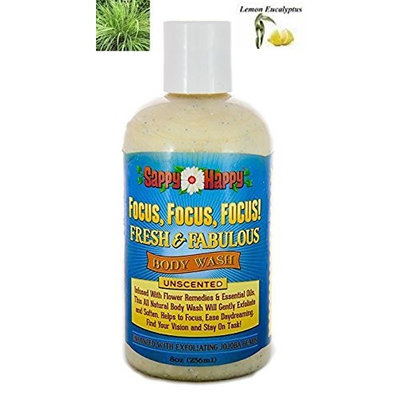 Focus, Focus! Organic Body Wash-Cleanse Your Body & Focus Your Mind with This Unique Formula of Natural Flower Remedies & Essential Oils-Choose Your Scent