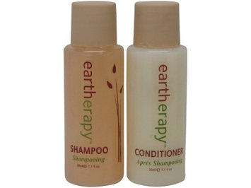 Eartherapy Shampoo & Conditioner lot of 10 (5 of each) 1.1oz Bottles.