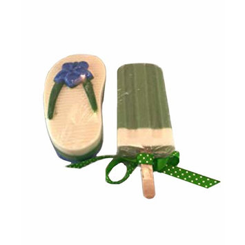 Summertime Specialty Goats Milk Soap Popsicle & Flip Flop Sandal Set of 2