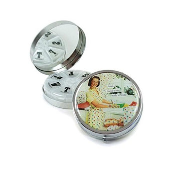 Anne Taintor Pill Box Compact - True, There Were Side Effects