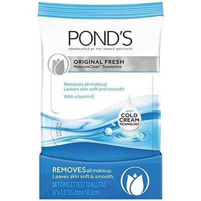 Pond's Original Fresh MoistureClean Towelettes With Cold Cream Technology 28 ea (Pack of 10)