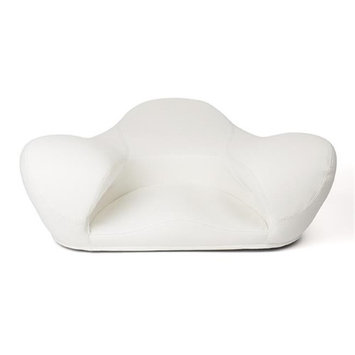 Alexia Meditation Seat D371-CU016 Meditation Leather Seat White - Very Large